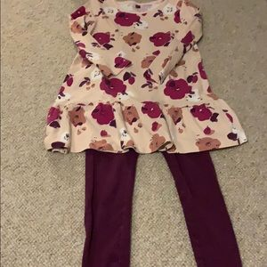 Girls dress and matching leggings